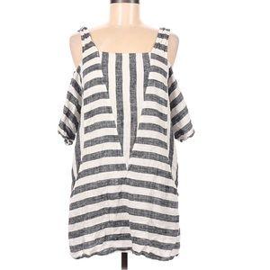 Soft Surroundings Open Shoulder Stripe Top